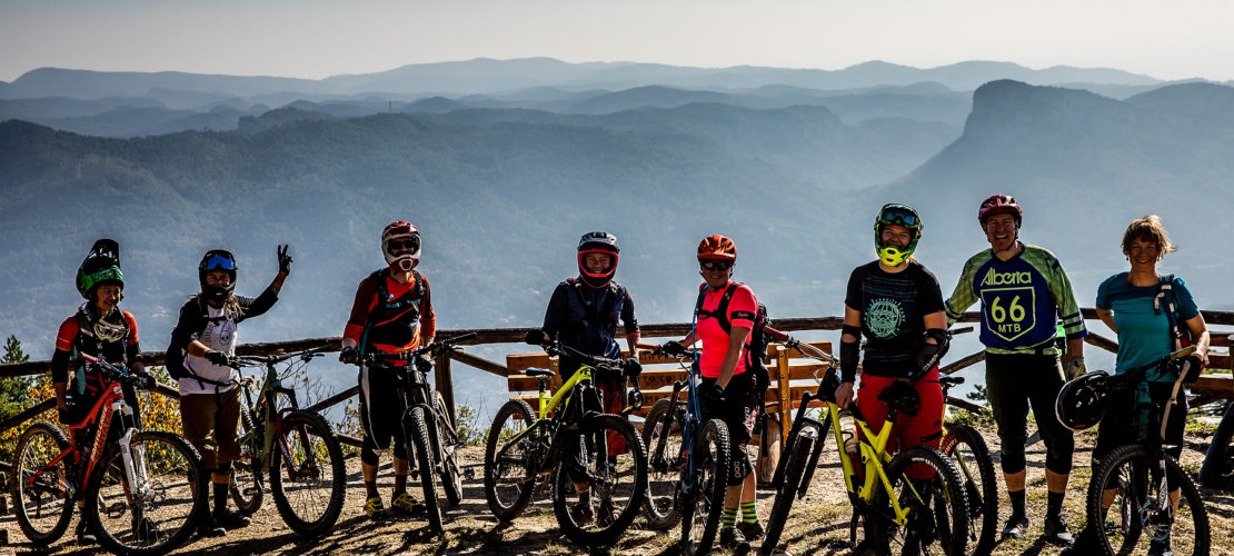 Playing with our bikes on great sunny trails in Finale Ligure.